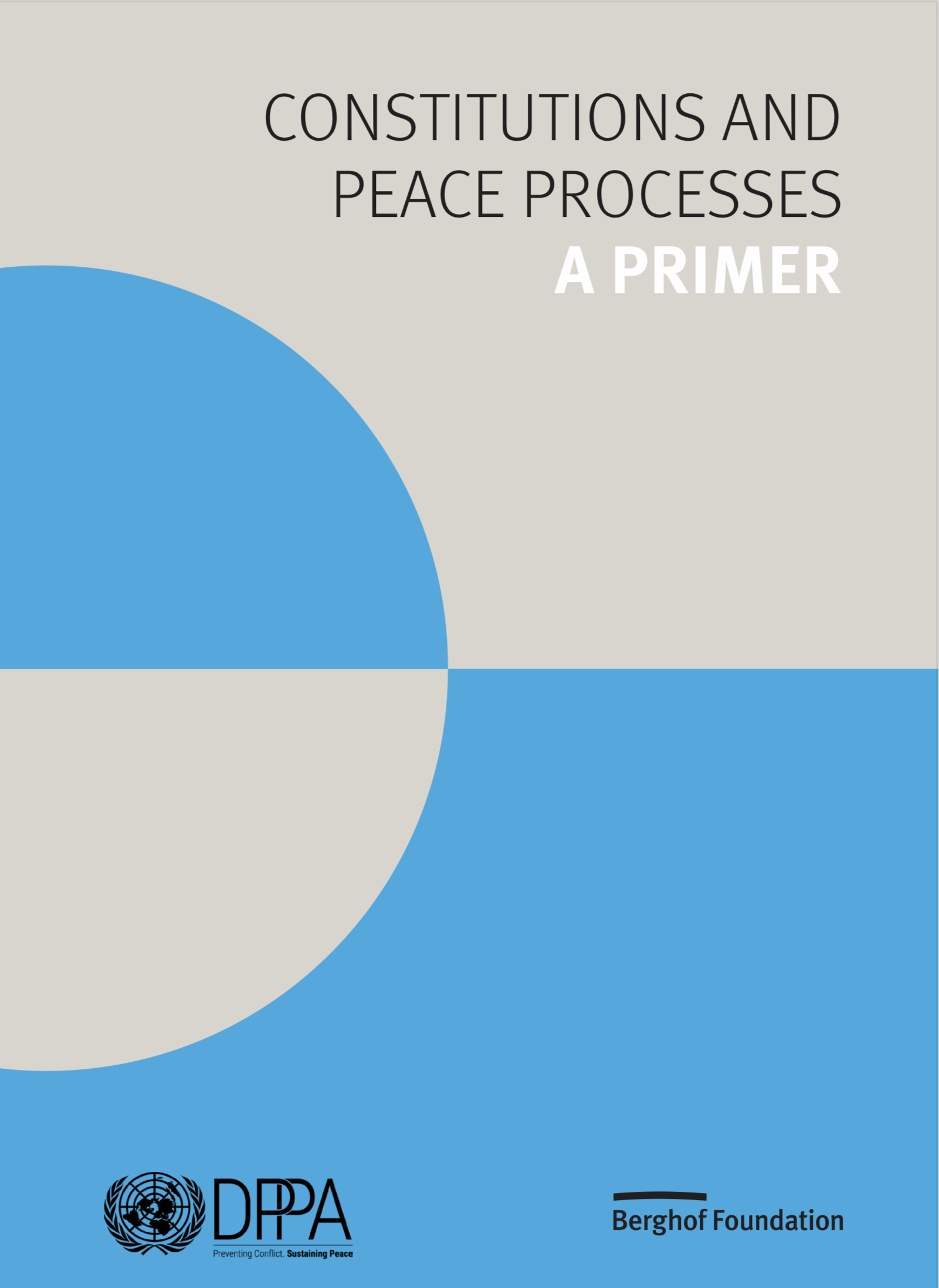 Constitutions and Peace Processes: A Primer (Cover page)