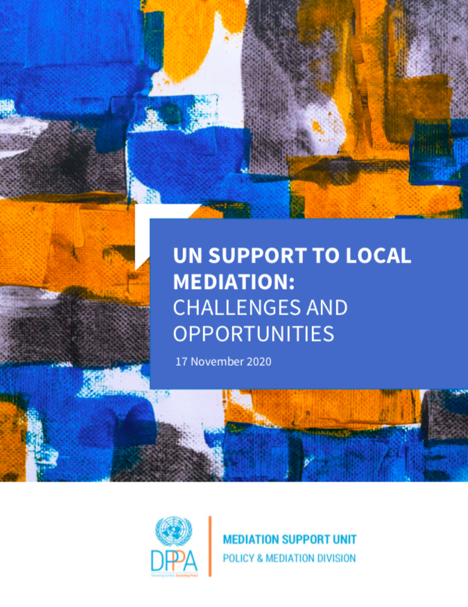 UN Support to Local Mediation: Challenges and Opportunities